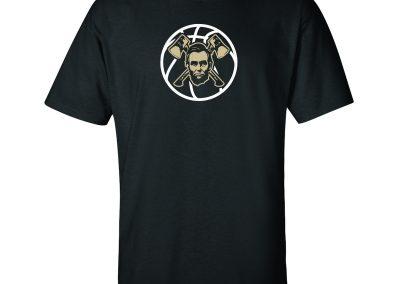 Lincoln Basketball on Black T-Shirt