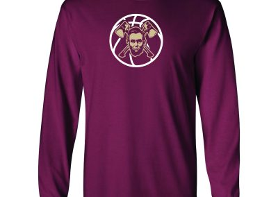 Lincoln Basketball on Maroon Longsleeve